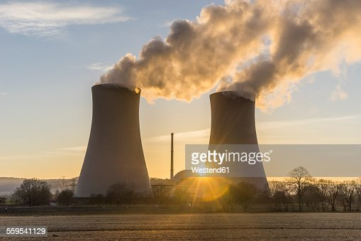 Germany, Lower Saxony, Grohnde, Grohnde Nuclear Power Plant