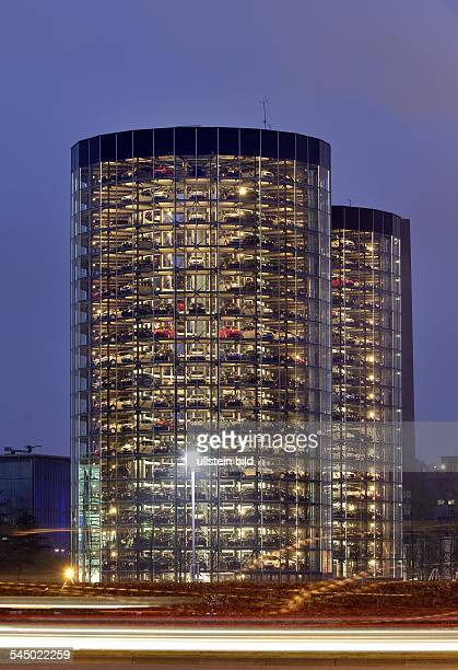 Germany Lower Saxony Wolfsburg car tower in the car town