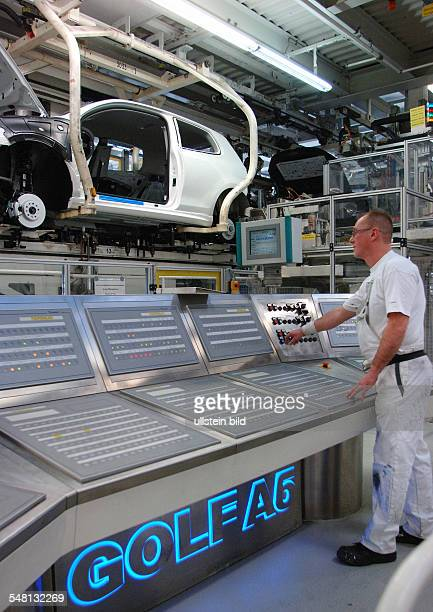 Germany Lower Saxony Wolfsburg production of the Golf A 6 car at Volkswagen company