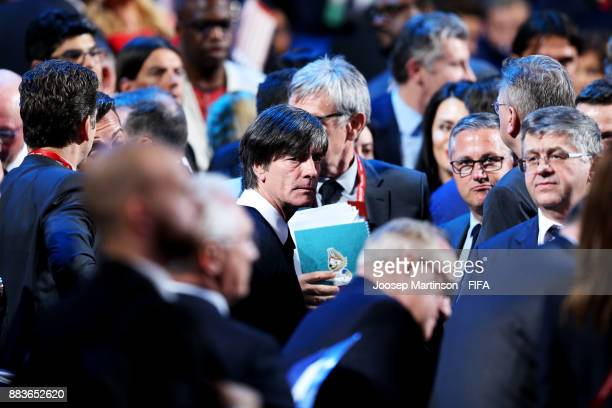 Germany Manager Joakim Loew looks on during the Final Draw for the 2018 FIFA World Cup Russia at the State Kremlin Palace on December 1 2017 in...