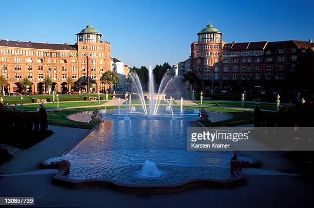 DEU, Germany, Mannheim: Friedrichsplatz, one of the major german Art Deco places,
