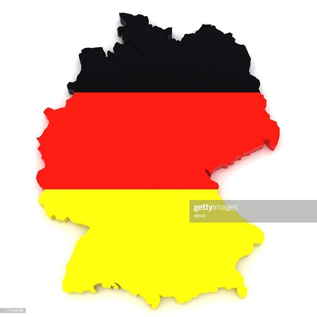 Deutschland-Karte : Stock-Foto