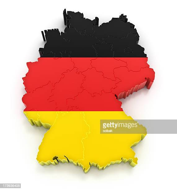 Germany map with flag