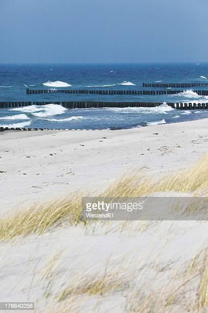 Germany, Mecklenburg Western Pomerania, Waves breaking at Baltic Sea