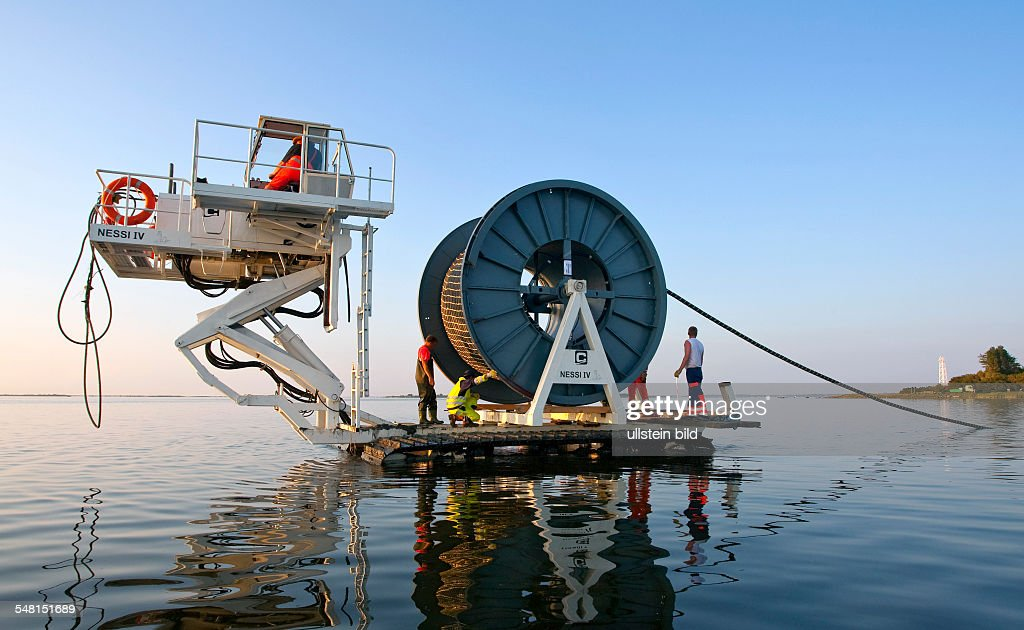 Germany MecklenburgWestern Pomerania Baltic Sea undersea cable to Hiddensee island