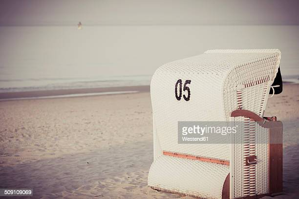 Germany, Mecklenburg-Western Pomerania, Ruegen, Beach chair on beach