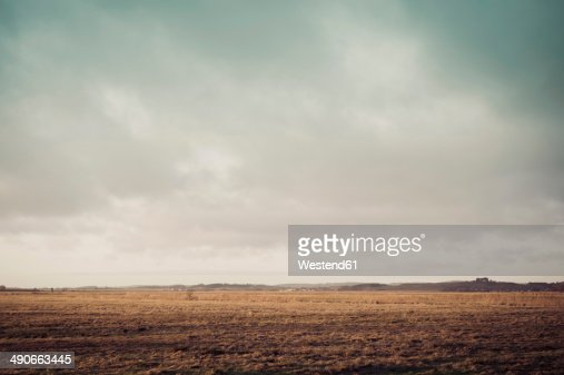 Germany, Mecklenburg-Western Pomerania, Ruegen, Fields landscape in winter