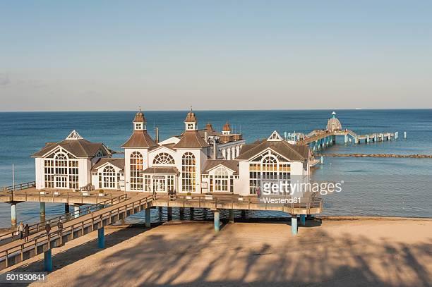 Germany, Mecklenburg-Western Pomerania, Ruegen, sea bridge at Baltic seaside resort Sellin