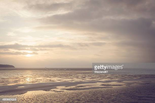 Germany, Mecklenburg-Western Pomerania, Ruegen, Sunset at Middelhagen