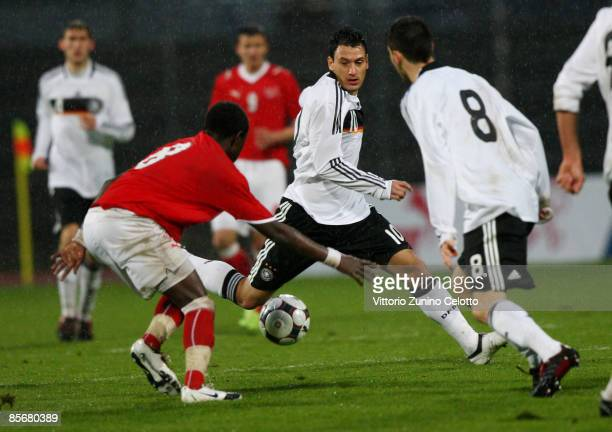 Germany midfielder Timo Gebhart in action during the Under 20 international friendly match between Switzerland and Germany at the Cornaredo stadium...