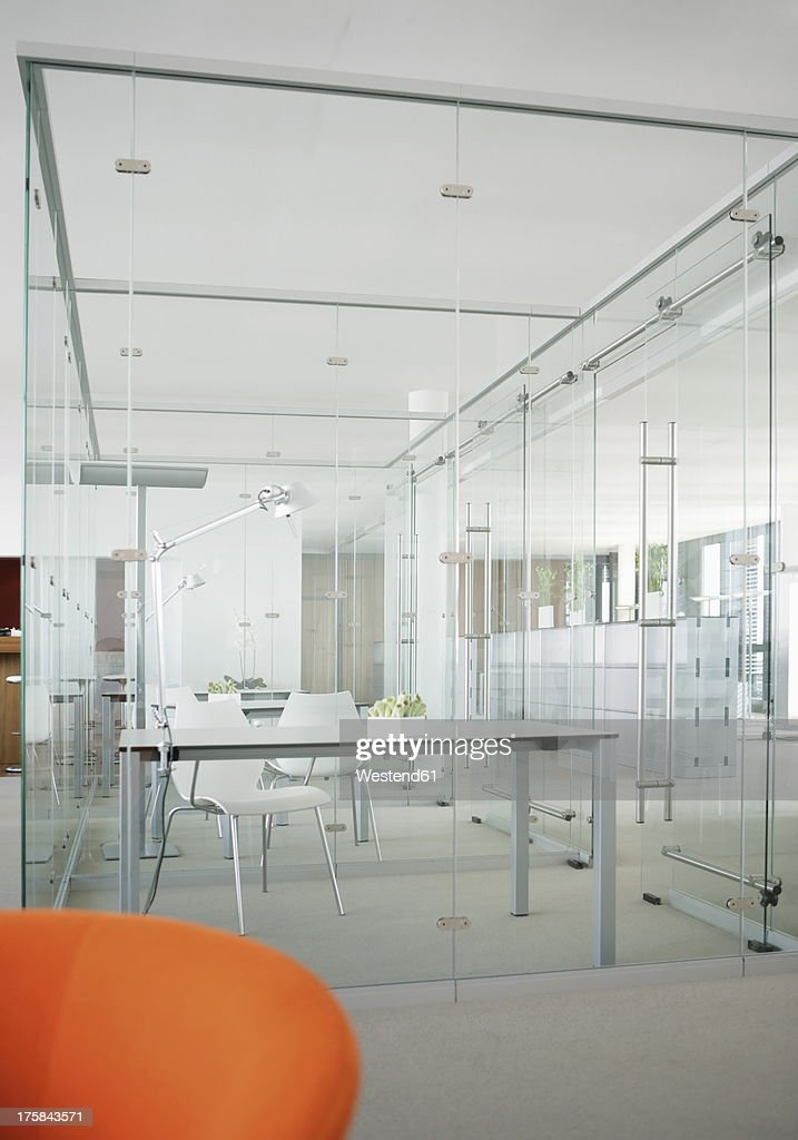 Germany, Modern office with glass walls : Stock Photo