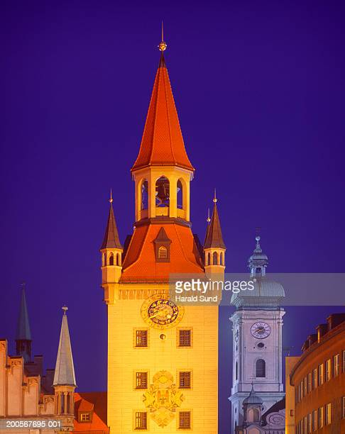 Germany, Munich, Altes Rathaus, Old Town Hall, dusk