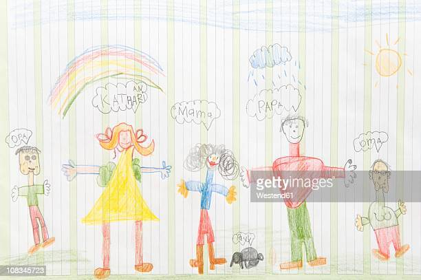 Germany, Munich, Child's drawing in exercise book