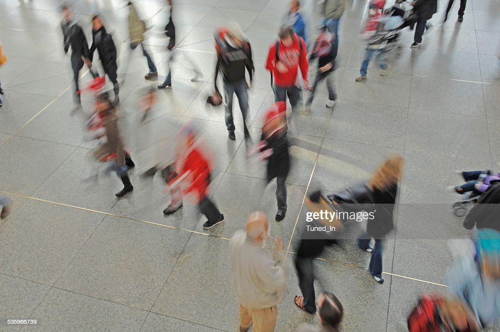 Germany, Munich, Passengers at railway station : Stock Photo