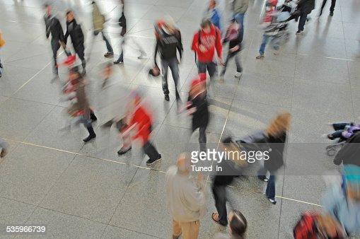 Germany, Munich, Passengers at railway station : Stock Photo