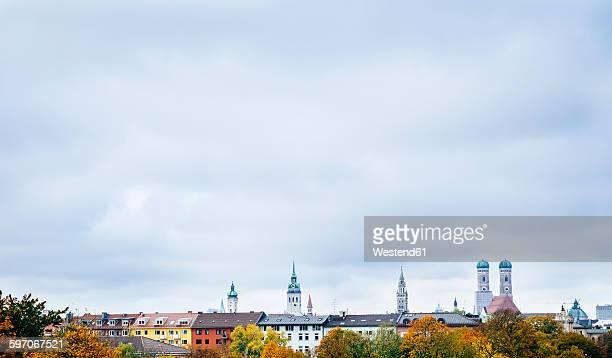 Germany, Munich, Skyline in autumn
