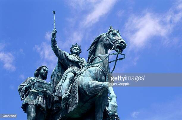 Germany, Munich, statue of Ludwig I, low angle view