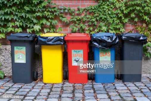 Dustbin stock photos and pictures getty images - Garden waste containers ...