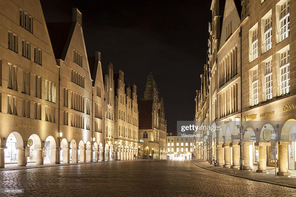 Germany, Munster, Houses at Prinzipalmarkt