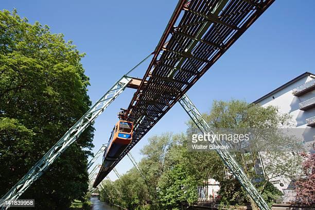 Germany, Nordrhein-Westfalen, Ruhr Basin, Wuppertal, Schwebebahn suspended tram line