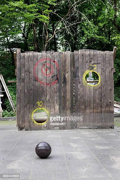 Germany, North Rhine Westphalia, Cologne, Ball on street at playground