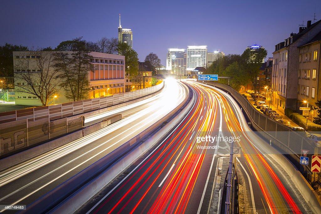 Germany, North Rhine Westphalia, Essen, Motorway