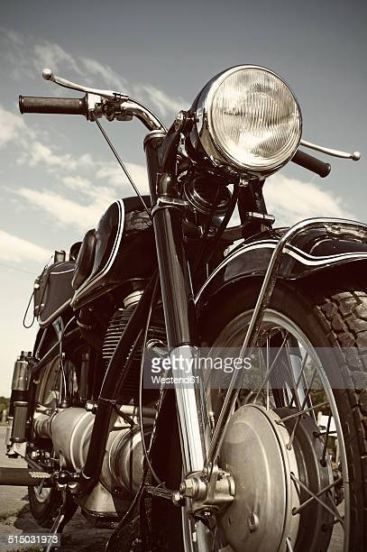 Germany, North Rhine-Westphalia, BMW Oldtimer, Old motorbike
