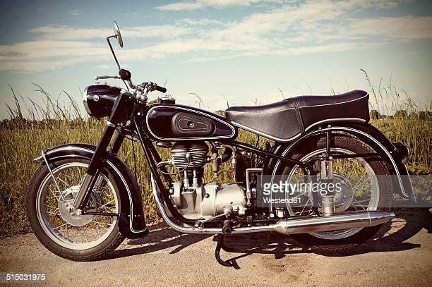 Germany, North Rhine-Westphalia, BMW Oldtimer, Old motorbike