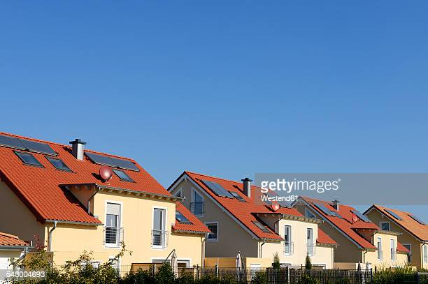 Germany, North Rhine-Westphalia, Cologne, row of twin houses
