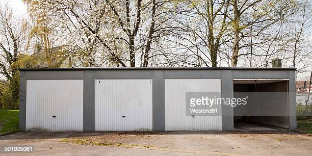 Germany, North Rhine-Westphalia, Dortmund-Boevinghausen, Garages