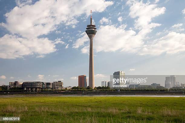 Germany, North Rhine-Westphalia, Duesseldorf, Parlament Building, Landtag, Rhine Tower