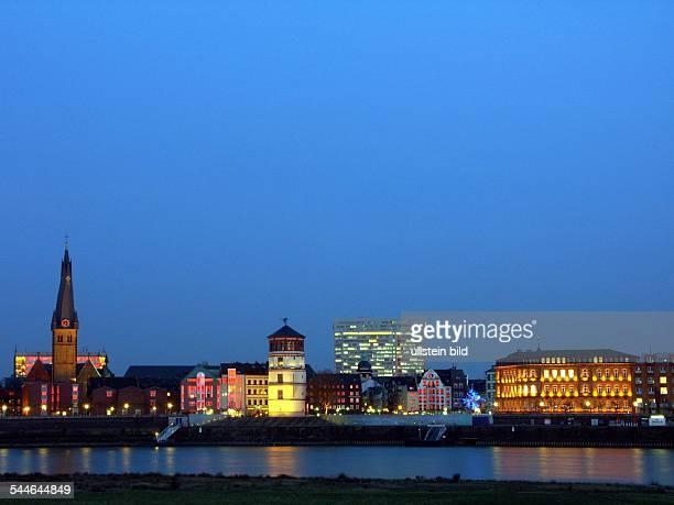 Germany North RhineWestphalia Duesseldorf skyline of the Old Town