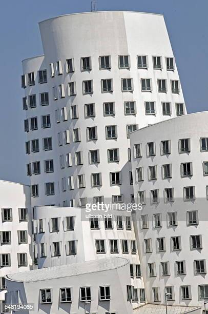 Germany North RhineWestphalia Duesseldorf 'Zollhof' a building by the architect Frank O Gehry at 'Medienhafen'