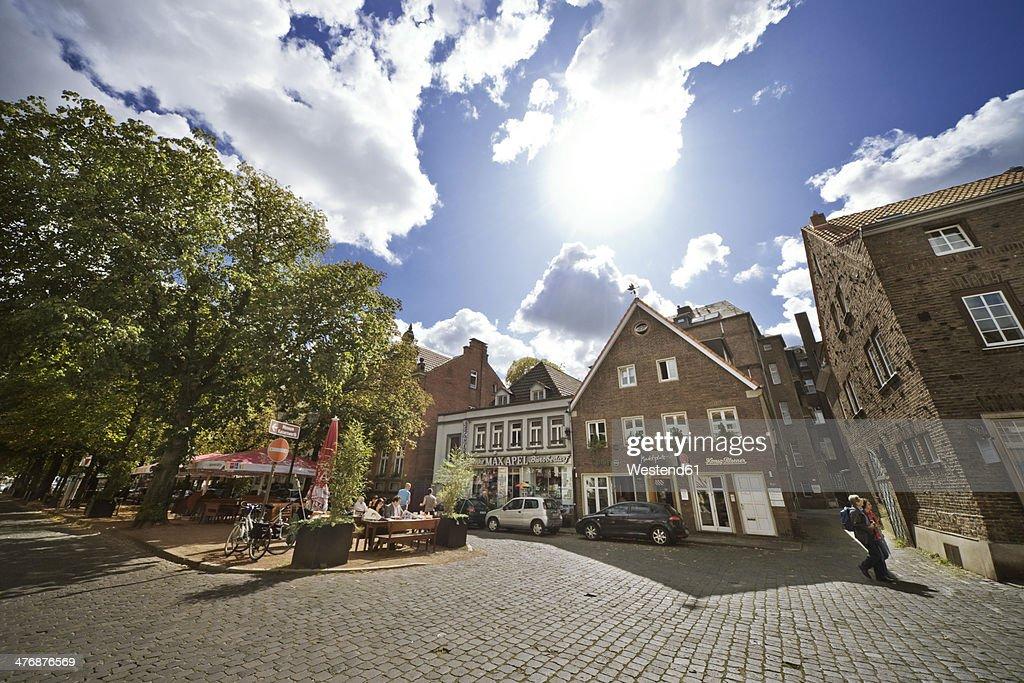 Germany, North Rhine-Westphalia, Dusseldorf, Old town of Kaiserswerth