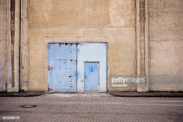 Germany, North Rhine-Westphalia, Neuss, door of a factory