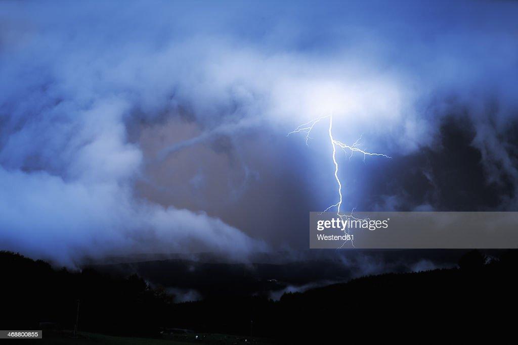 Germany, North Rhine-Westphalia, Windeck, Thunder-storm
