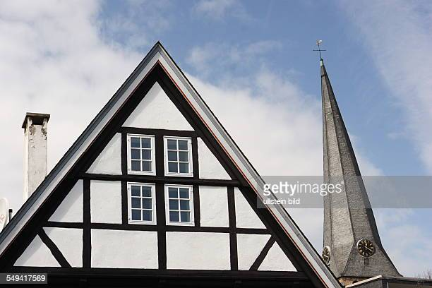 DEU germany NRW Hattingen View on the old district and thr St Georgs church
