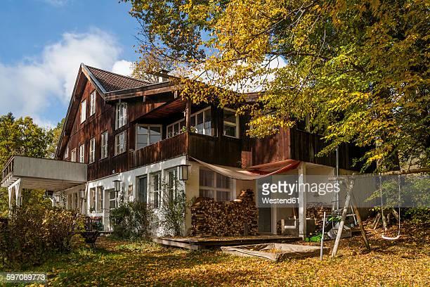 Germany, Oberammergau, Reichenwies, rebuilt mountain farm