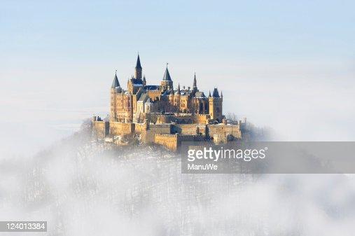 Germany Palace Hohenzollern Winter Fog