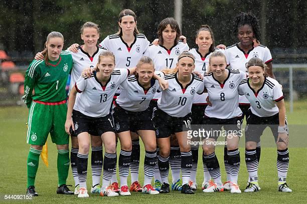 Germany players Laura Sieger Sophie Riepl Lara Schmidt Lena Sophie Oberdorf Noemi Gentile Nicole Anyomi Sjoeke Nusken Marleen Schimmer Gina...