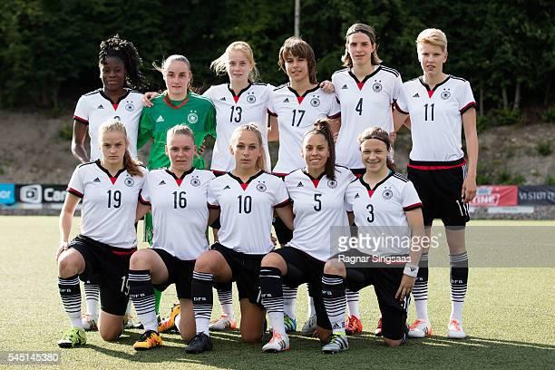 Germany players Nicole Anyomi Laura Sieger Sjoeke Nusken Lena Sophie Oberdorf Lara Schmidt Paulina Krumbiegel Lena Uebach Lara Schenk Gina...