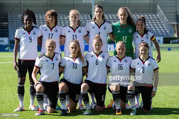 Germany players Nicole Anyomi Lena Sophie Oberdorf Sjoeke Nusken Lara Schmidt Anneke Borbe Noemi Gentile Marleen Schimmer Gina Chmielinski Sophie...