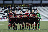 Germany players pose prior to kickoff during the 2017 UEFA European U21 Championships Qualifier between U21 Faroe Islands and U21 Germany at...