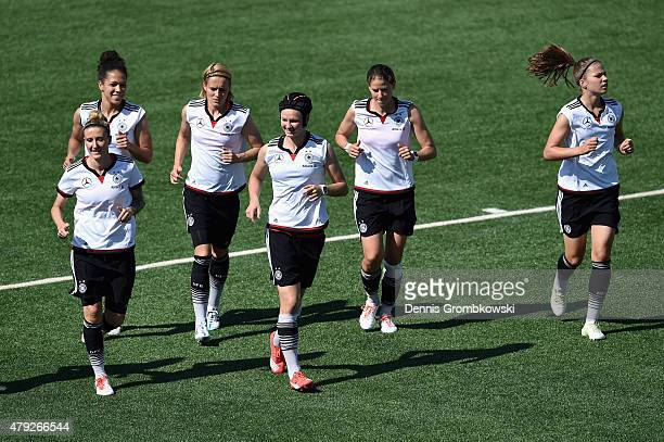 Germany players practice during a training session on July 2 2015 in Edmonton Canada