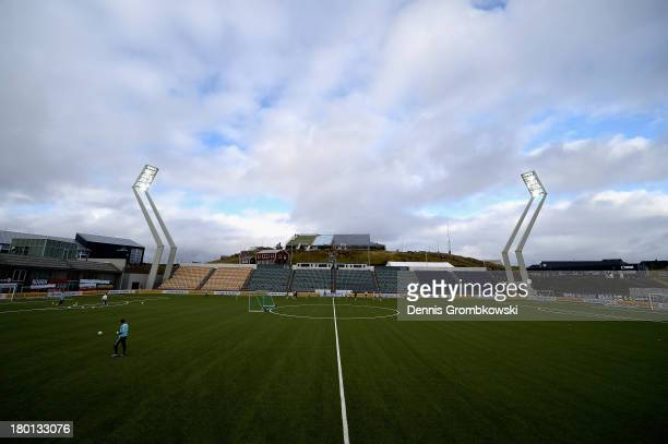 Germany players practices during a training session ahead of the FIFA 2014 World Cup Qualifier match between Faroe Islands and Germany on September 9...
