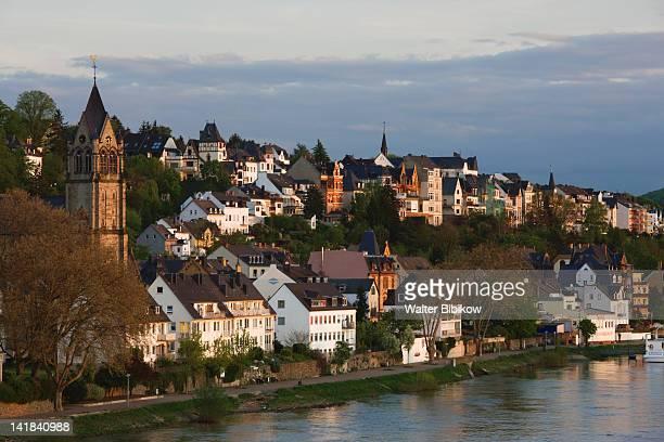 Germany, Rheinland-Pfaltz, Koblenz, Village of Pfaffendorf on Rhein River