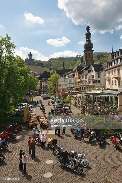 Germany, Rheinland-Pfaltz, Mosel River Valley, Cochem, Town along Mosel River