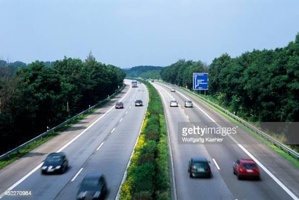 Germany Rhineland Autobahn Between Dusseldorf And Roermond