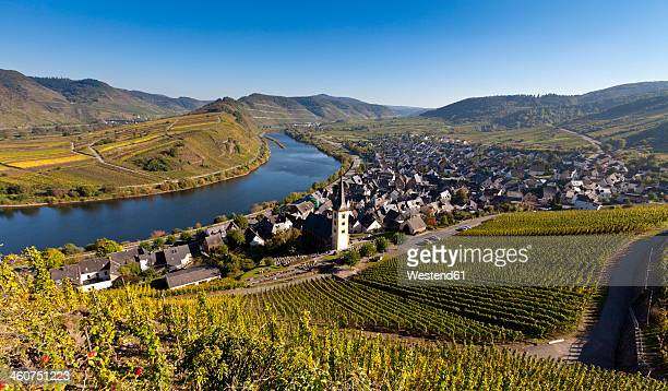 Germany, Rhineland Palatinate, View of town Bremm near Moselle River