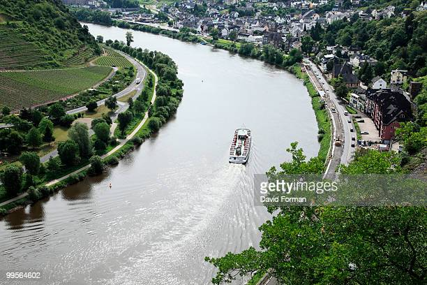 Germany.  River Moselle at Cochem.  View